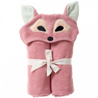 breganwood organics bath and beach hooded wrap playful fox