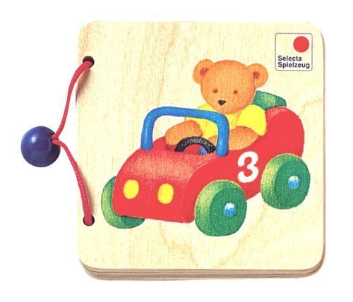 Wooden book about vehicle for kids