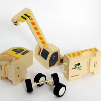 Wooden crane DIY toy
