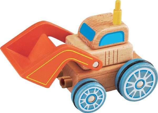 Everearth wooden digger building toy
