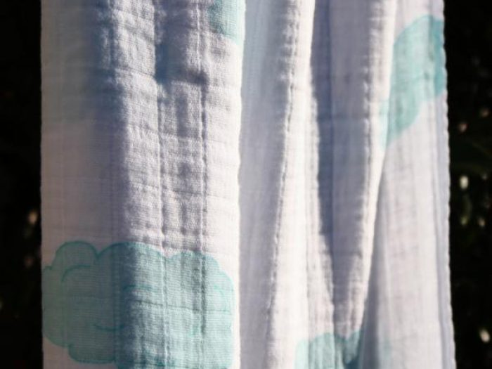 aden + anais organic muslin swaddle in sky design