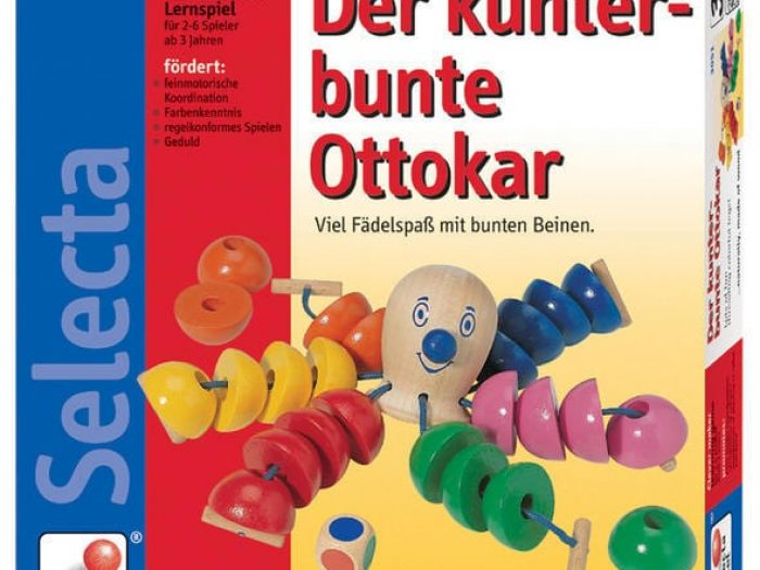 Selecta Octopus threading game boxed.