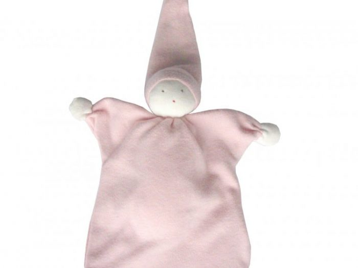 Under The Nile GOTS Certified Organic Cotton Sleeping Doll Pink