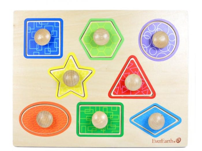 EverEarth wooden shape puzzle