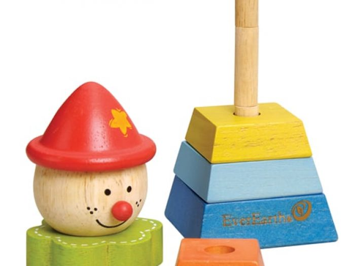EverEarth Pyramid Stacking Clown with red hat