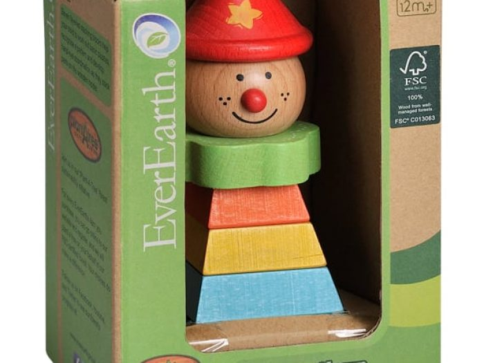 EverEarth Pyramid Stacking Clown packaged