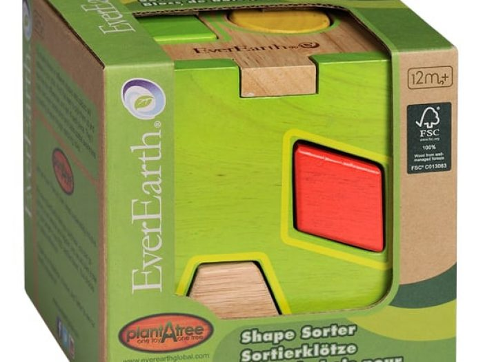 everearth shape sorter box packaged