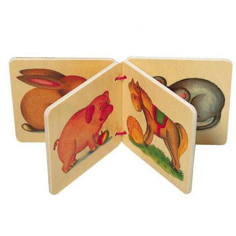 selecta wooden picture book animals