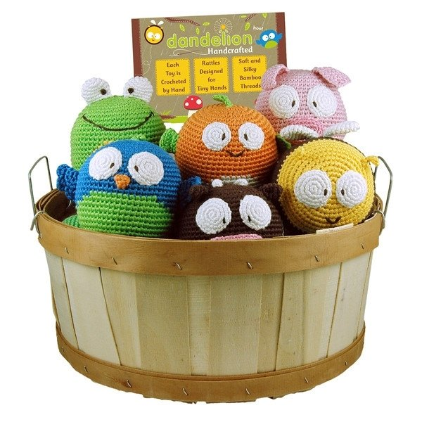 roly poly animal rattles