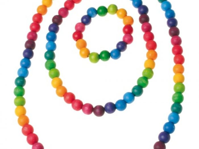 Grimms Wooden Rainbow Beads