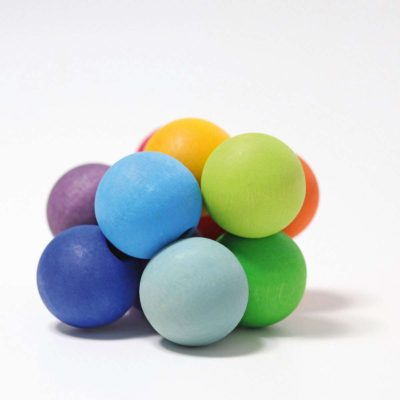 Rainbow wooden grasping beads