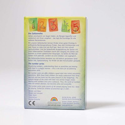 grimms number card set