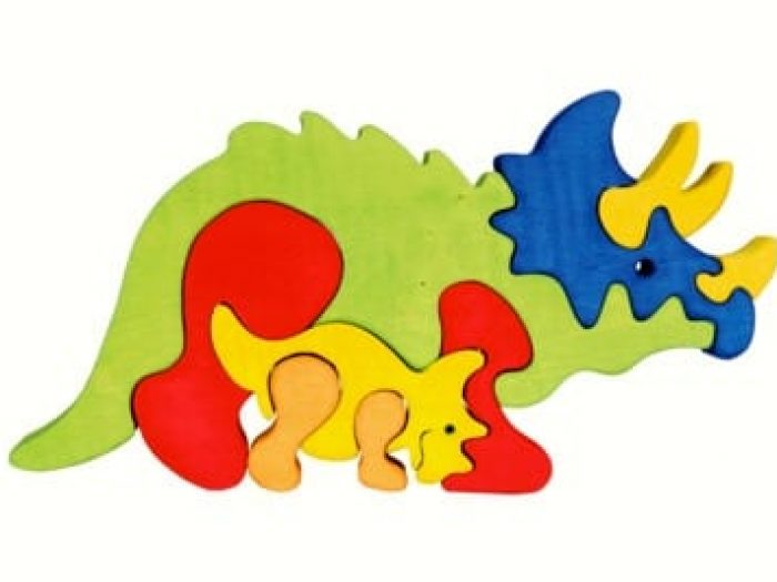 Fauna wooden Puzzle Triceratops