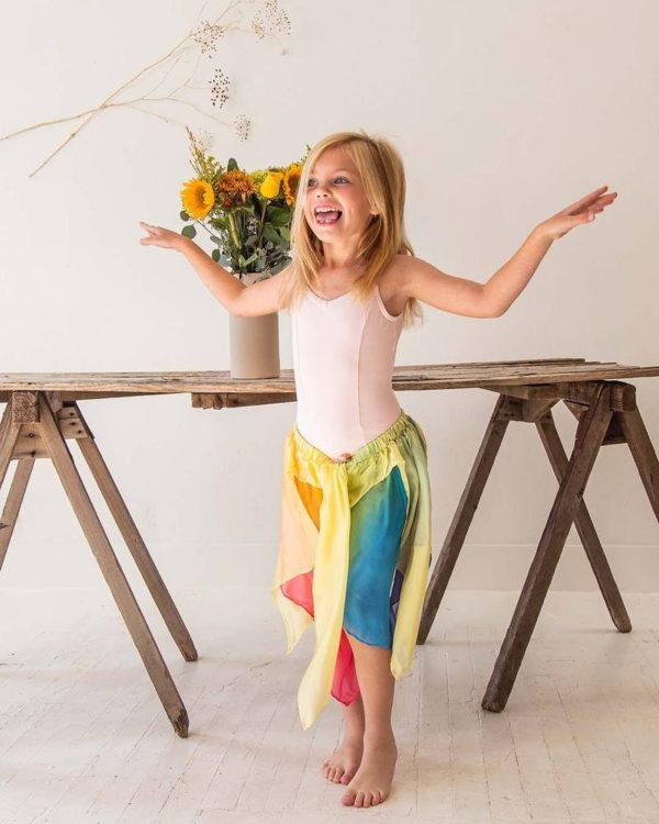 Sarah's Silks yellow rainbow fairy skirt