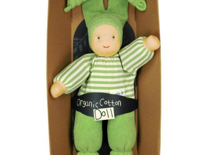 Organic doll designed and made in Europe