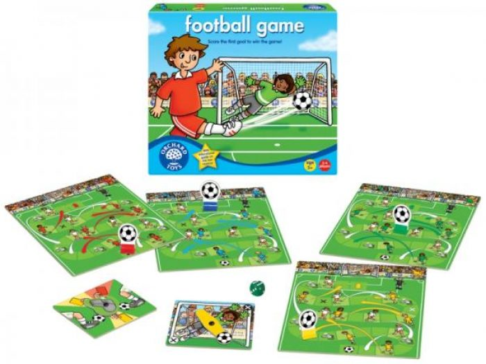 Box and game of Orchard Toys Award Winning Football Game