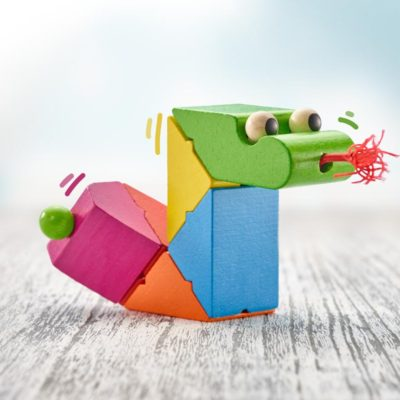 Selecta wooden clicking snake toy serpentino
