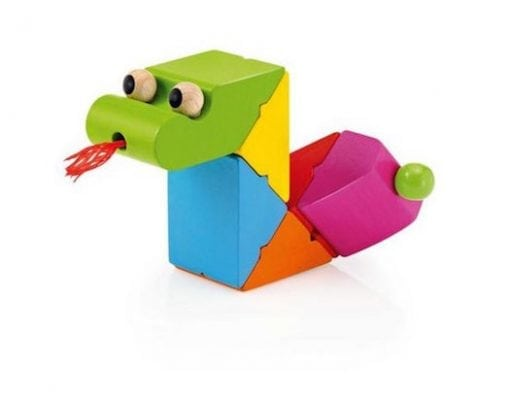 wooden snake toy