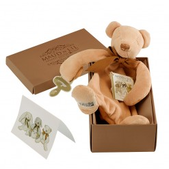 cubby teddy bear comforter boxed