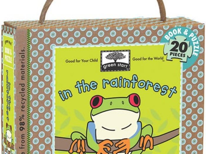 green start in the rainforest book & puzzle set