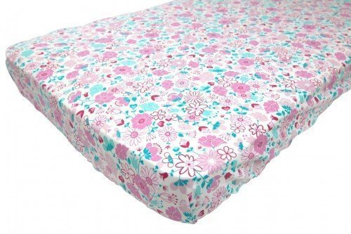 Fairy garden floral fitted sheet