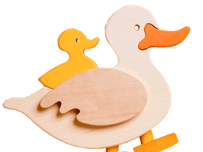Doddering Duck Wooden Toy