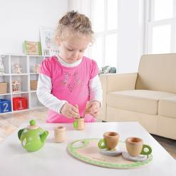 Wooden Tea Set in play