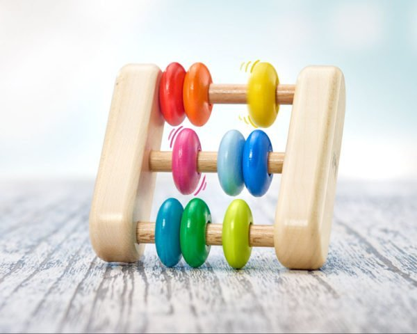 selecta abacus wooden rattle