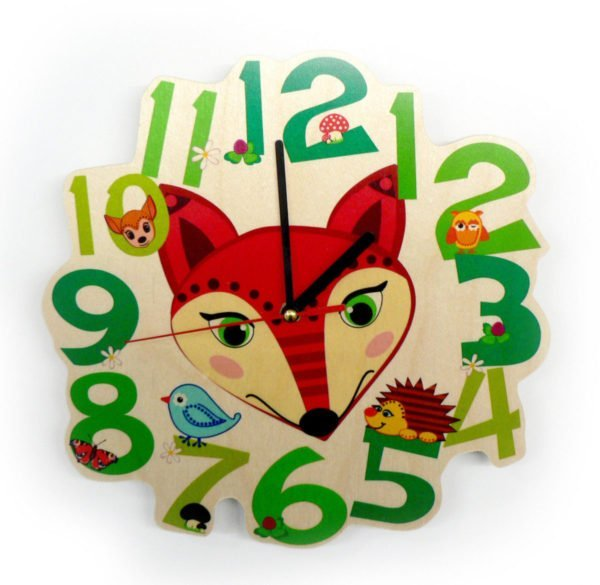 Hess-Spielzeug Childrens Wall Clock Fox