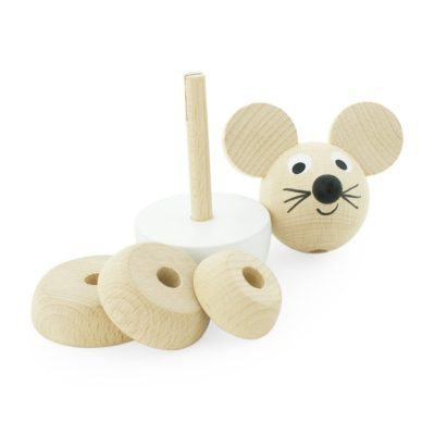 separated wooden stacking mouse