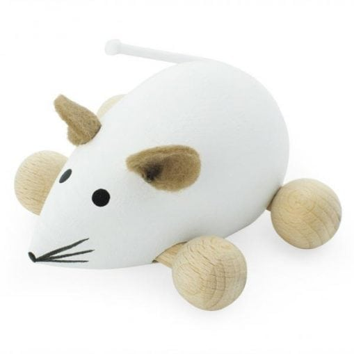 Wooden push along mouse