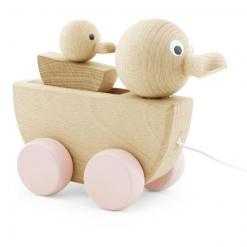 wooden pull along duck & duckling