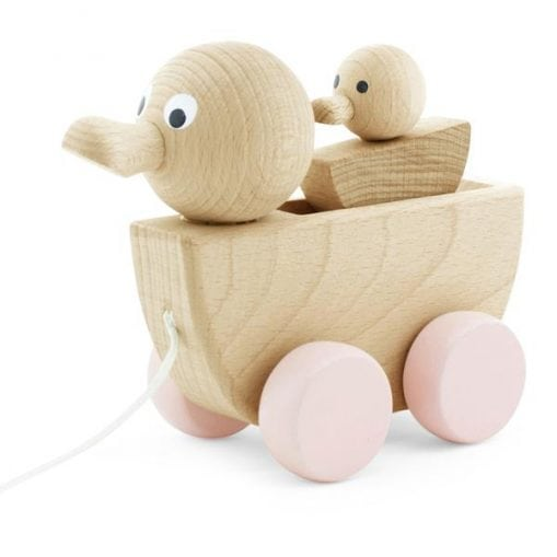 wooden duck & baby toy