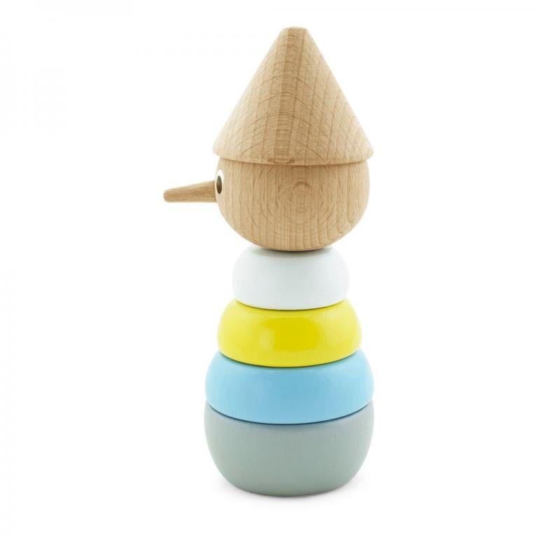 Pinocchio stacking toy standing