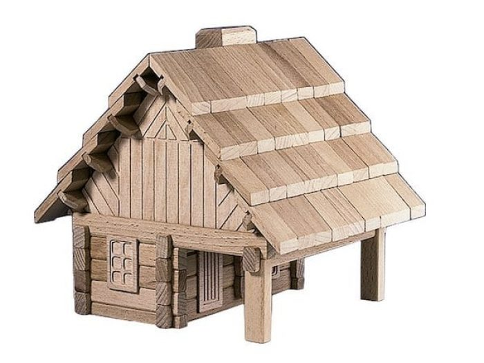 The Cabin wooden building puzzle