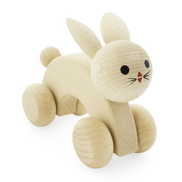 Natural rabbit toy