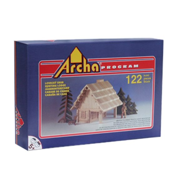 Wooden building puzzle box by Archa Program