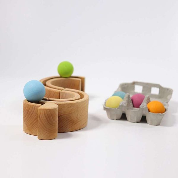 build and roll wooden balls