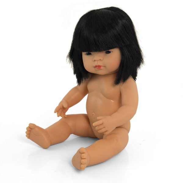 Miniland asian girl doll undressed