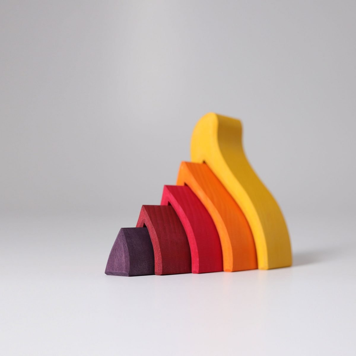 5 piece fire stacking toy