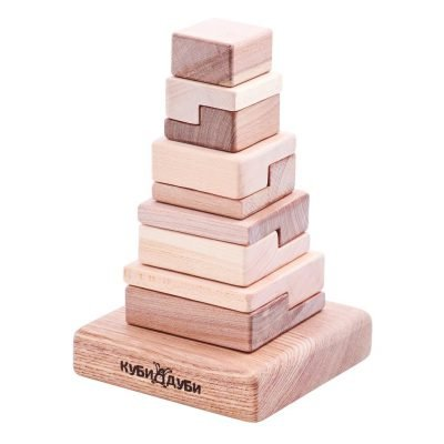 Wooden Stacking Puzzle Techno