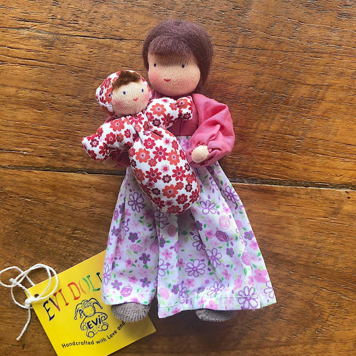 evi doll mother brown hair