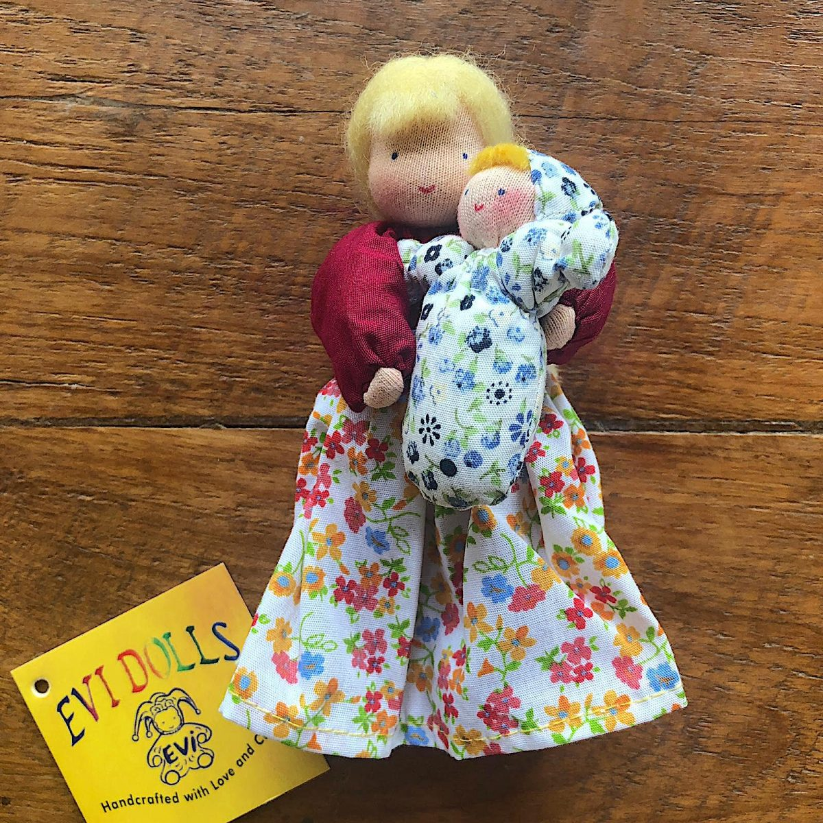 eve mother doll mother blonde hair